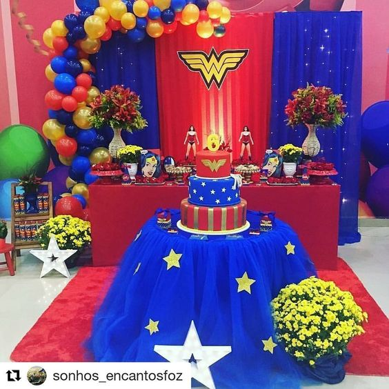 children's parties of the wonder woman
