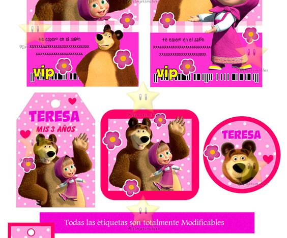 Tags of candy bar masha and the bear to print