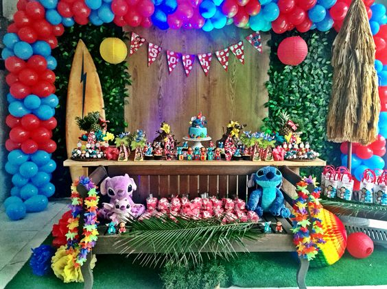 Lilo & stitch decoration for children's parties