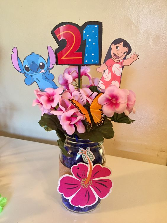 Table centers of lilo & stitch