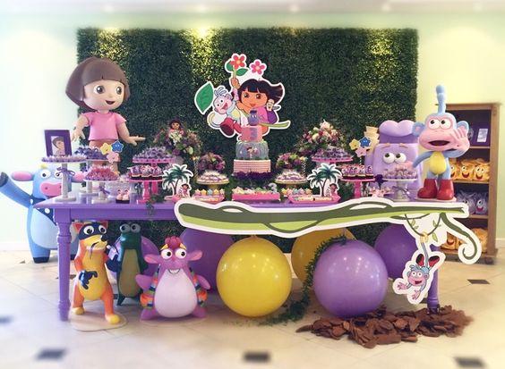 decoracion de dora the explorer for children's party
