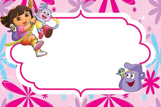 invitations from dora the explorer to edit