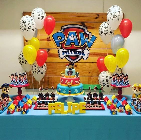 how to decorate candy bar paw patrol with balloons