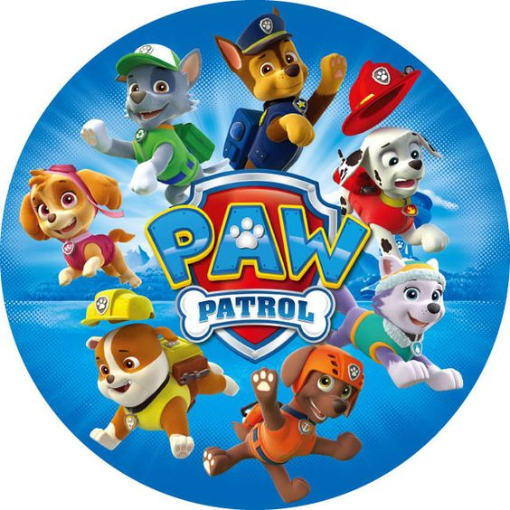 Paw Patrol labels for printing