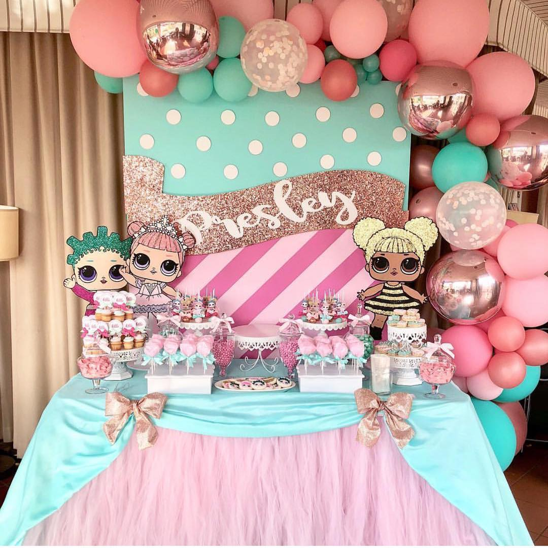 birthday party nina theme dolls lol