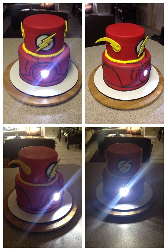 Cake designs with flash theme