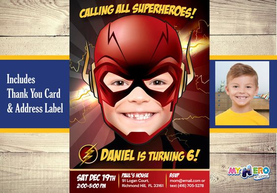 Invitations for children's flash party