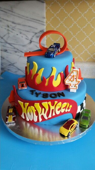 Hot wheels cakes