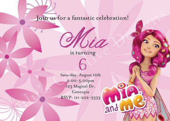 invitation design by mia and me