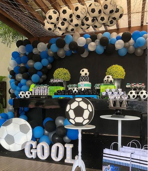 children's party with football theme
