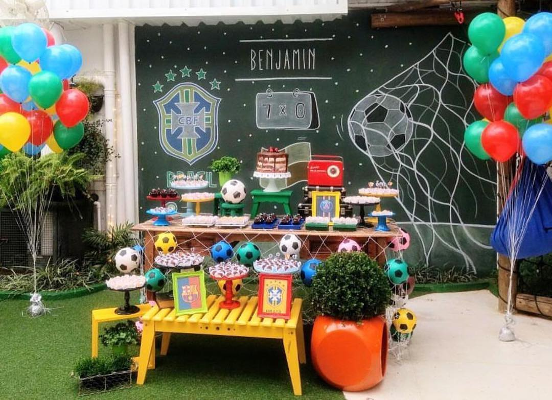 football decoration for children's party