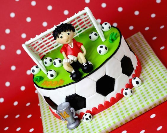 designs of cakes for soccer party