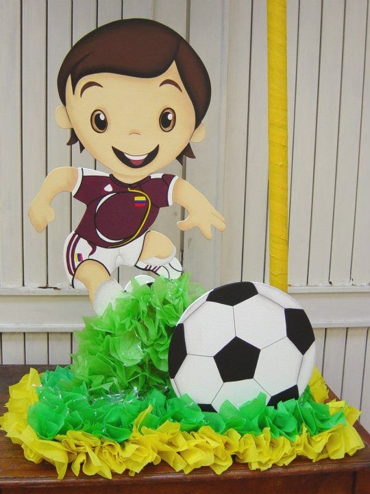 centerpiece for children's soccer party