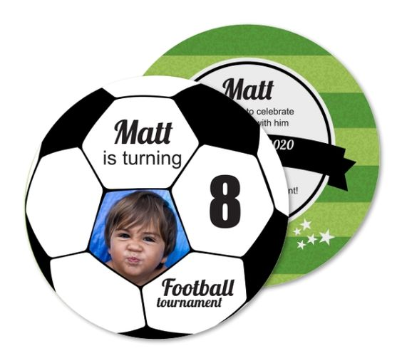 invitations for children's soccer party
