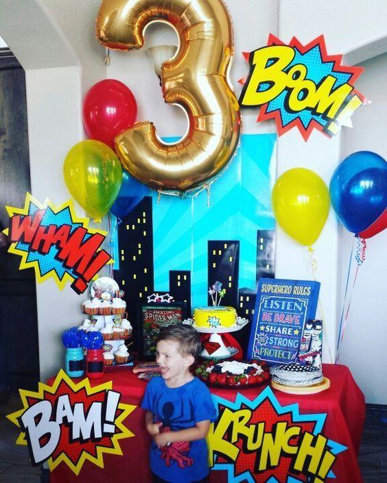 birthday party 3 years old varon 2