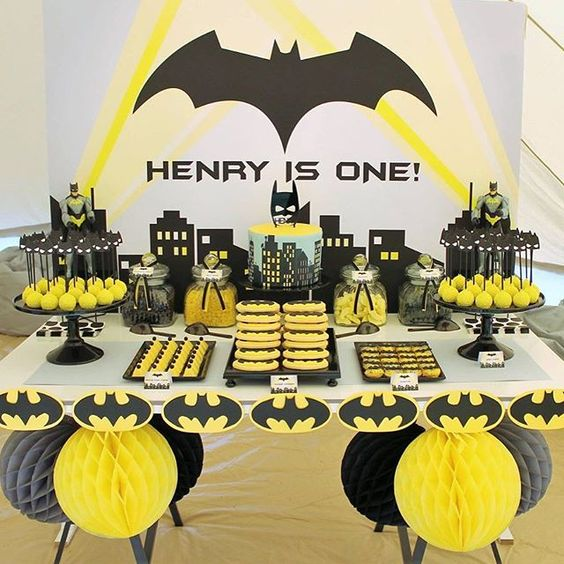 Themed Party of Batman, the Knight of the Night; Power and Mysticism in all its splendor!