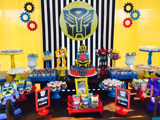 Ideas to Decorate a Birthday with Transformers!