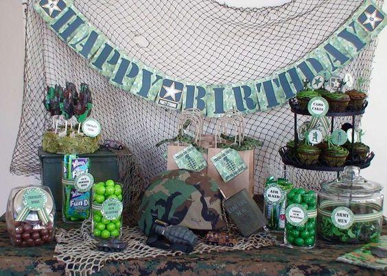 Military Birthday Decoration