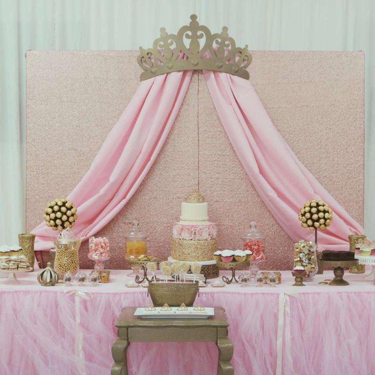 Baby Shower dessert table ideas for girls