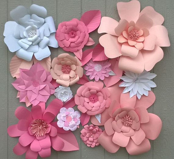 Ideas to decorate Baby Shower of girl with paper flowers