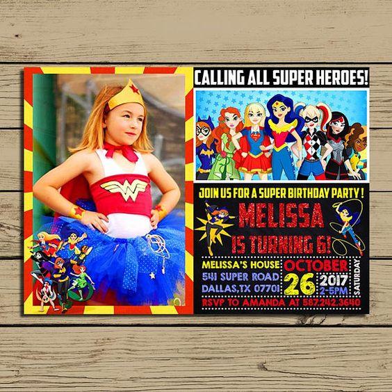 Wonder Woman Invitations (1)