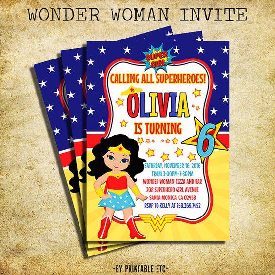 Wonder Woman Invitations (2)