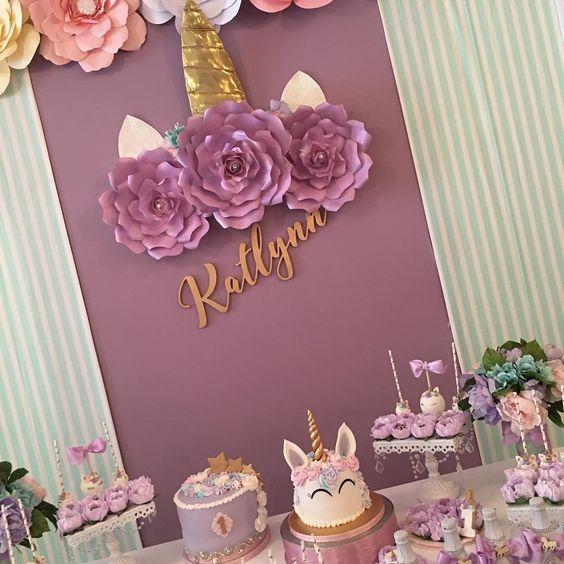 unicorn dessert table (2)