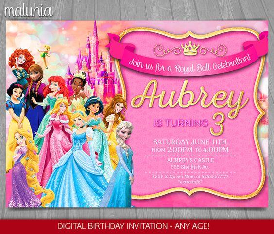 princess invitations (3)