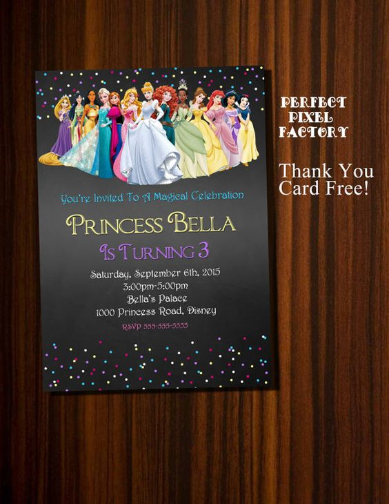princess invitations (1)