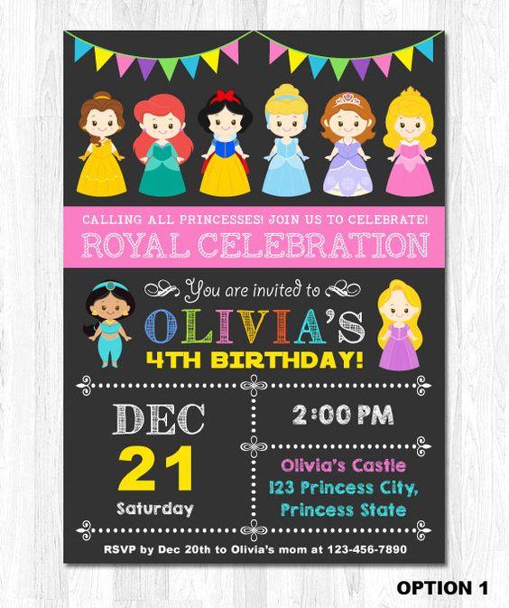 princess invitations (2)