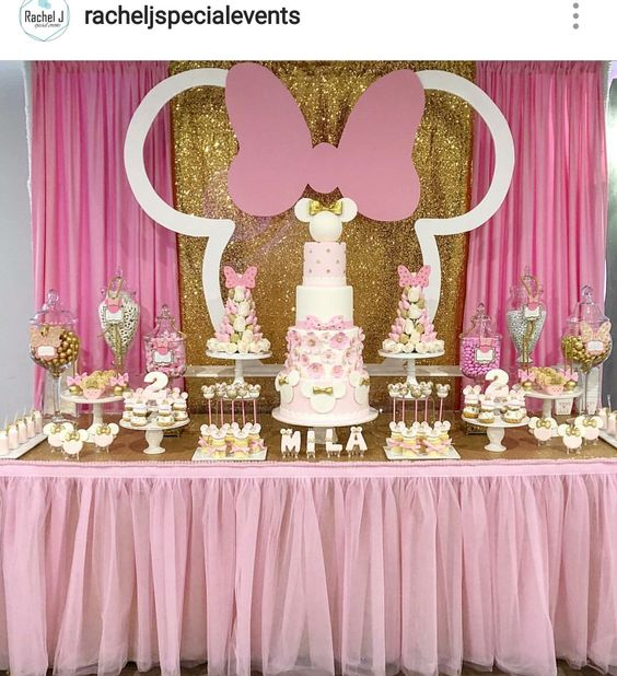 minnie mouse dessert table (2)