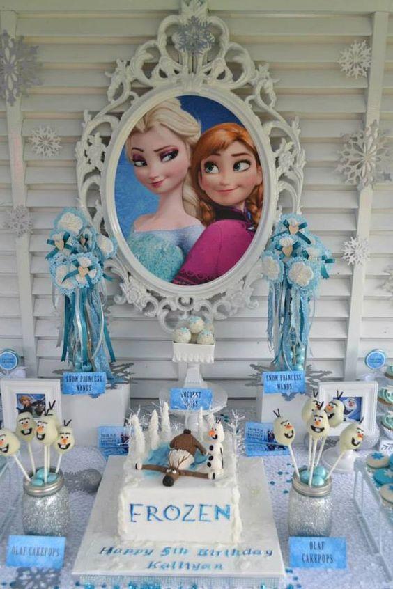 nina decoracion frozen's birthday