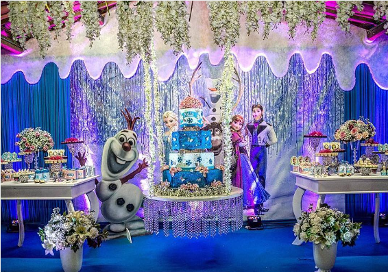 Thematic party of frozen 2