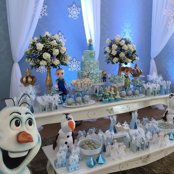 Thematic party of frozen 5