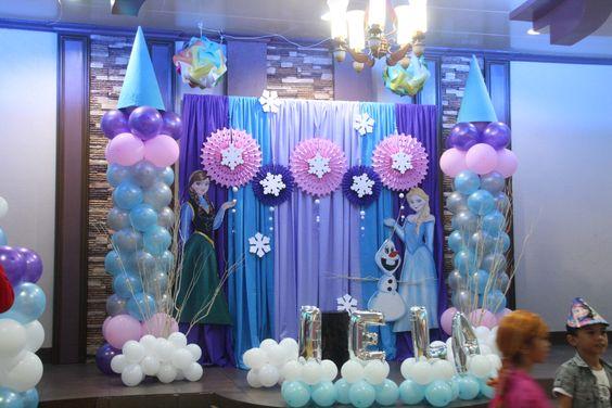 decoration with nina frozen birthday balloons