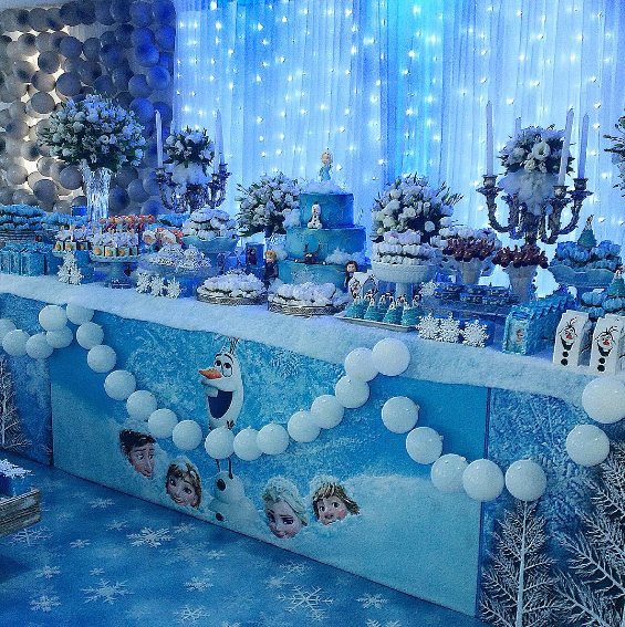 Thematic party of frozen 3