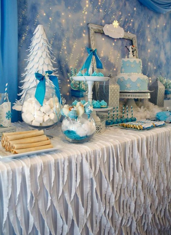 like decorating a candy table frozen theme 2