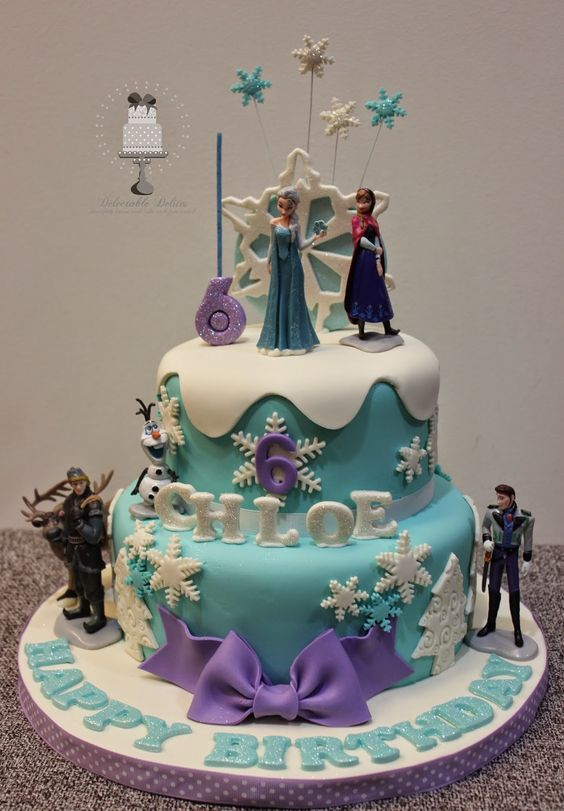 how to decorate a frozen cake 2