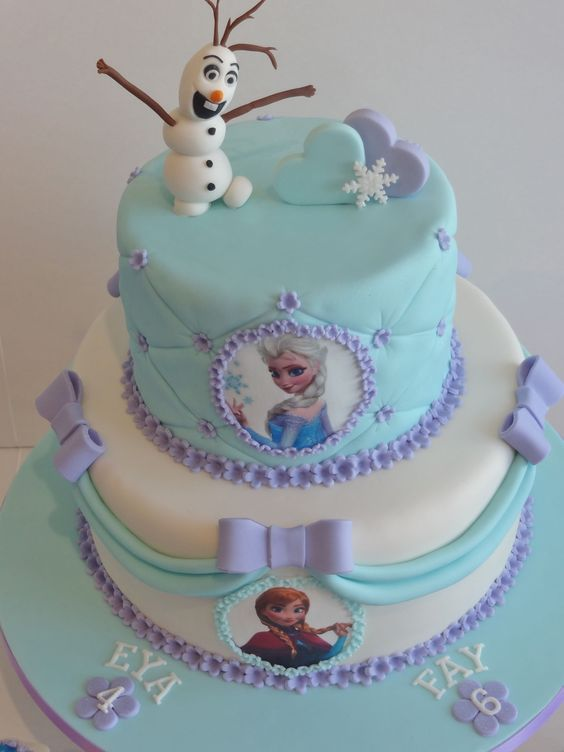 how to decorate a frozen cake 3