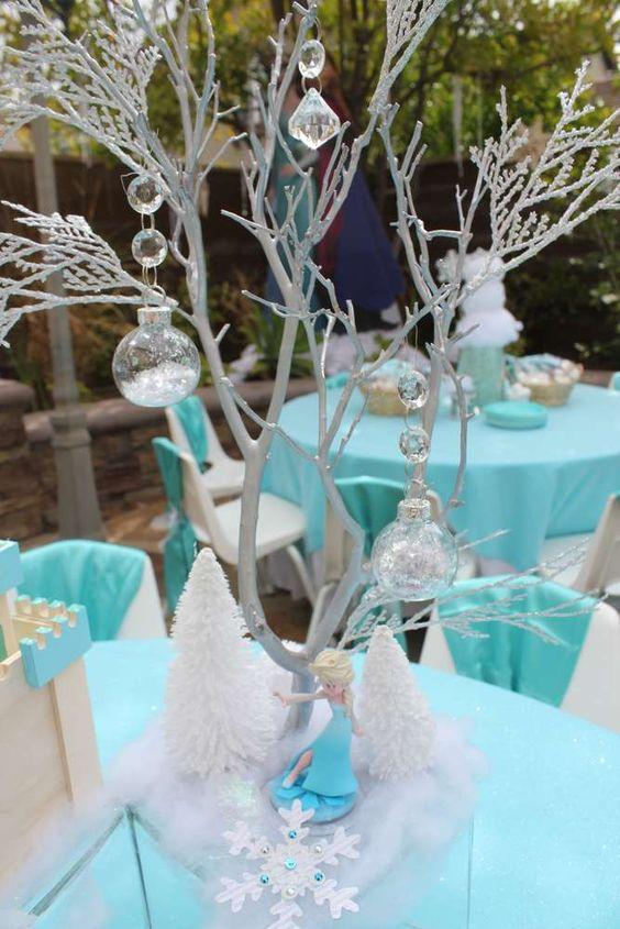 elegant frozen table centers 2