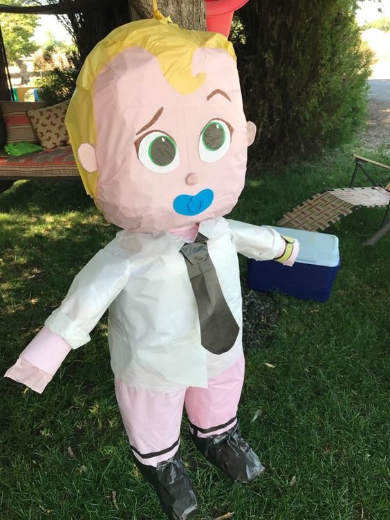 boss piñata in diapers