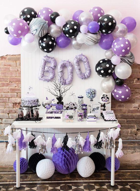 Dessert table for Vampirina theme children's party