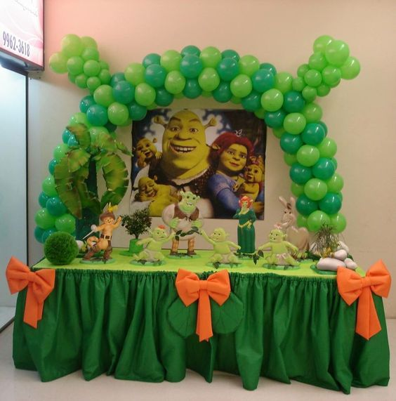 Ideas to decorate a shrek7 children's party