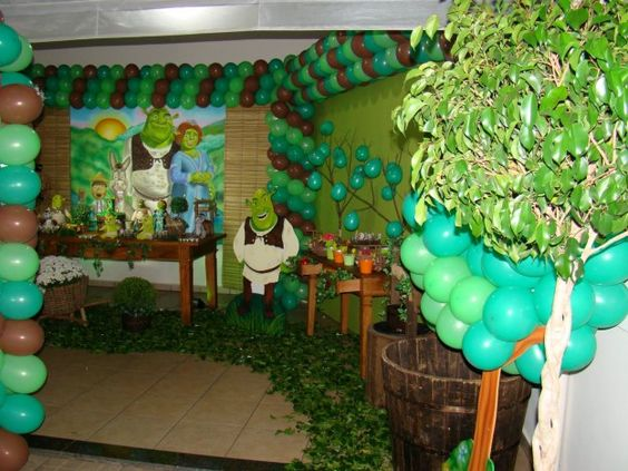 Ideas to decorate a shrek6 children's party