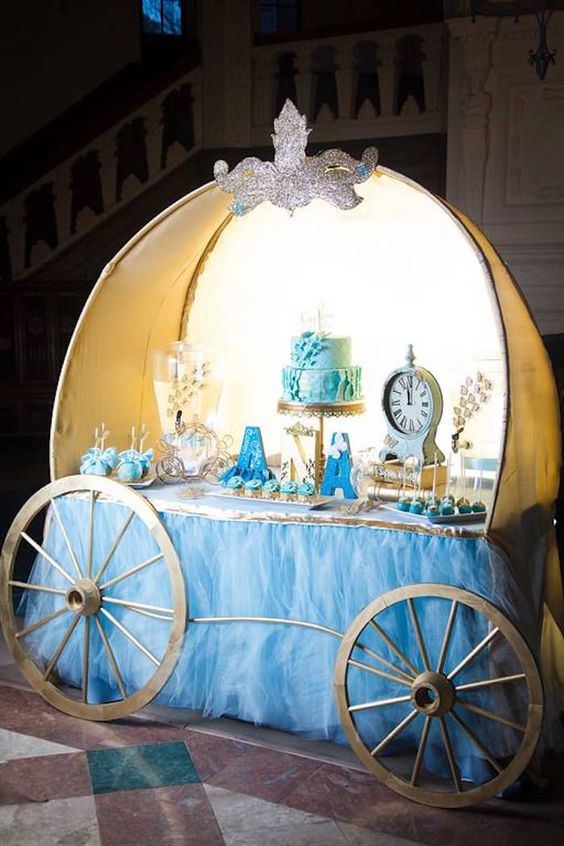 Decoration main table Cinderella party (7)