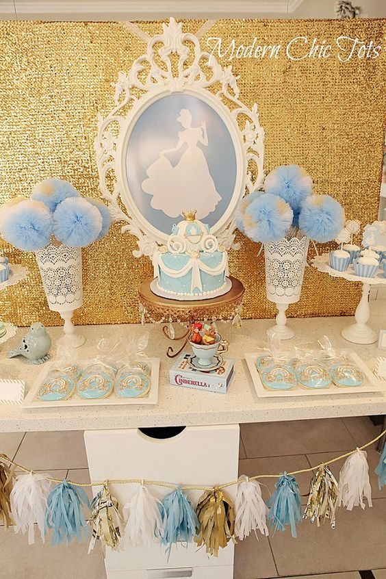 Decoration main table Cinderella party (2)