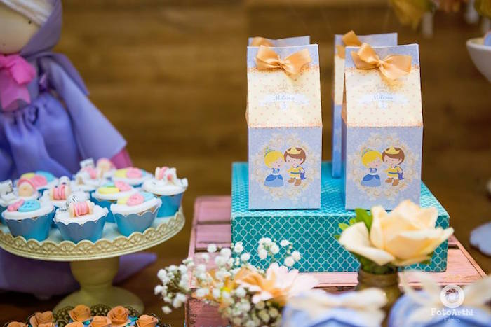 candy or dessert table Cinderella theme