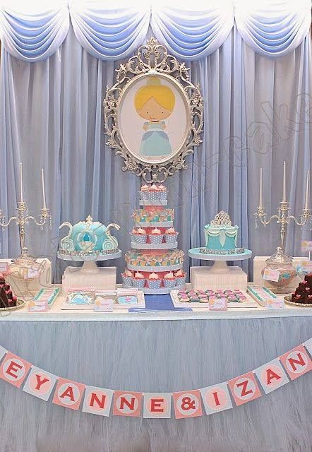 how to decorate table of candy theme Cinderella (3)