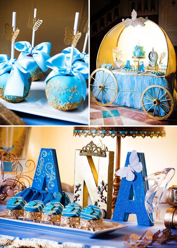 how to decorate a table with a sweet Cinderella theme