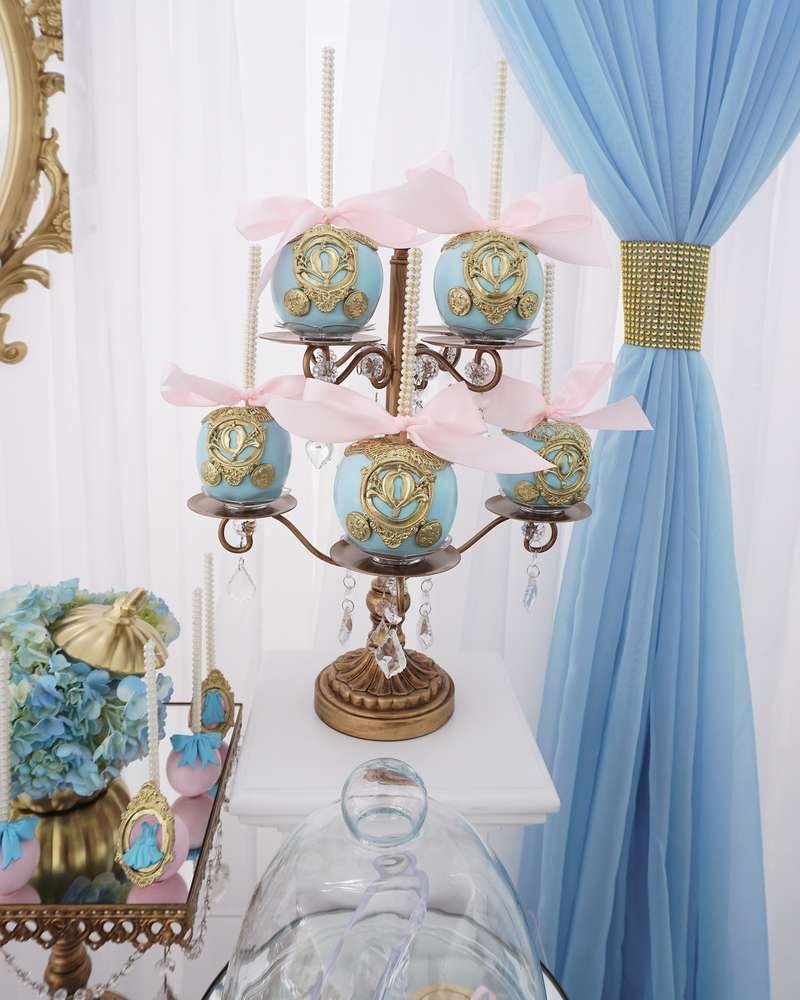 sandwiches and desserts for the Cinderella theme candy table